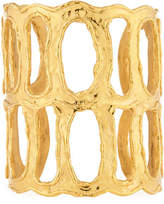 Devon Leigh Textured Double Open Cuff Bracelet