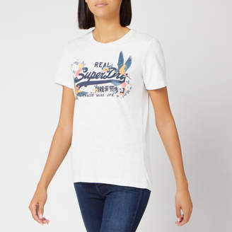Superdry Women's V Logo Puff Emb Entry T-Shirt