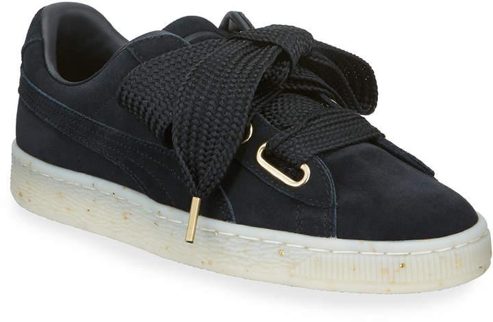 the best attitude 6585d 46c42 Basket Suede Heart Big Lace Sneakers