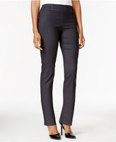JM Collection Petite Waverly Denim Pull-On Pants, Only at Macy's