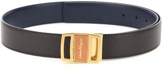 Salvatore Ferragamo Reversible Leather Belt With Double-face Buckle