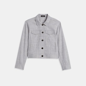 Theory Jean Jacket in Textured Good Linen