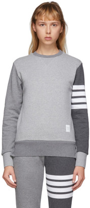 Thom Browne Grey Classic Loopback 4-Bar Sweatshirt