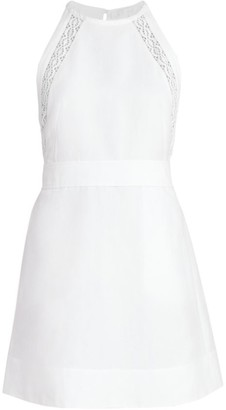 Chloé Linen & Cotton Halter Dress