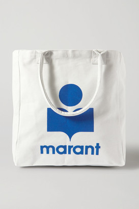 Isabel Marant Yenky Printed Cotton-canvas Tote - White