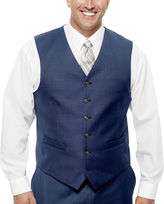 STAFFORD Stafford Travel Medium Blue Suit Vest - Big & Tall Fit