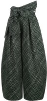 Rosie Assoulin check patterned tie waist skirt