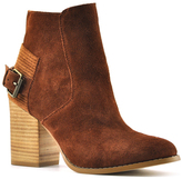 Sbicca Cognac Lorenza Suede Ankle Boot