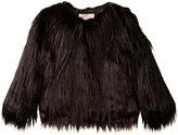 Appaman Faux Fur Coat (Toddler/Kid) - Black - 3T