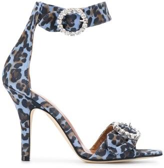 Paris Texas Leopard Print Sandals