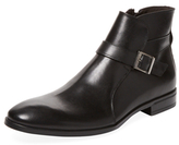 a. testoni Buckle Leather Ankle Boot