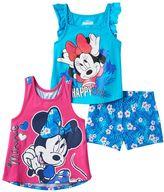 Disney Disney's Minnie Mouse Toddler Girl Racerback Tank Top, Flutter Sleeve Tank Top & Shorts Set