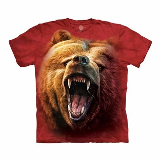 The Mountain Grizzly Growl Adult T-Shirt