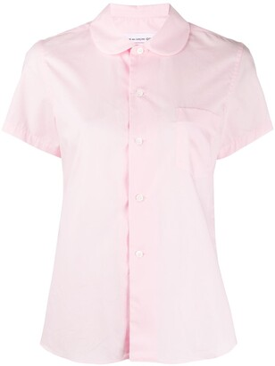 COMME DES GARÇONS GIRL Peter Pan collar short sleeve shirt