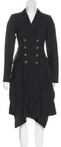 AllSaints Double-Breasted Linen Coat
