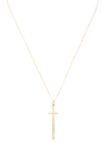 Ila Women's Helena 14K Yellow Gold & 0.21 Total Ct. Diamond Cross Necklace
