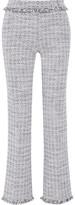 Karl Lagerfeld Cotton-blend tweed wide-leg pants