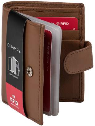 Champs Leather RFID Double Card ID Holder