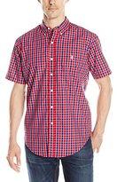 U.S. Polo Assn. Men's Short Sleeve Plaid Poplin Sport Shirt
