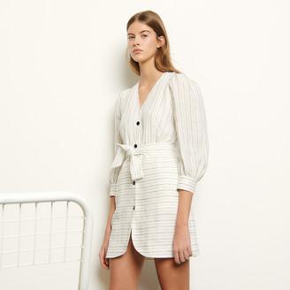 Sandro Short dress with fine stripes