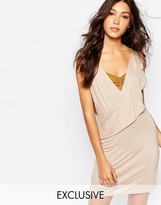 Rokoko Wrap Front Dress With Plunge Neck