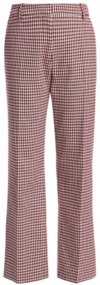 Derek Lam 10 Crosby Galen Plaid Straight Pants