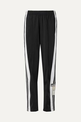 adidas Adibreak Striped Satin-jersey Track Pants - Black