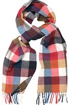Gant Multi Check Wool Scarf, Multi