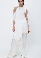 Ann Demeulemeester thelma white asymetrical sleeve tunic