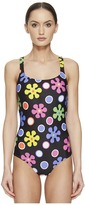 Moschino Sixties Theme Maillot Women's Swimsuits One Piece