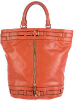 Michael Kors Leather Bucket Satchel
