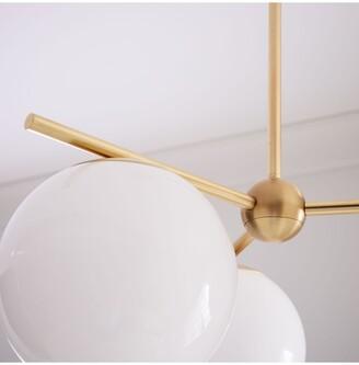 west elm Sphere + Stem Small Ceiling Light, Brass
