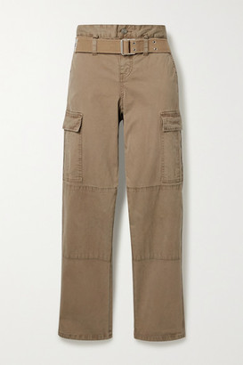 RtA Sallinger Belted Cotton-blend Twill Straight-leg Cargo Pants - Beige