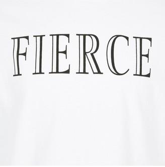 River Island Girls Slogan Crop T-Shirt - White