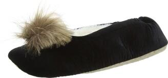 Eaze Ballet Fur Pom Women's Slippers