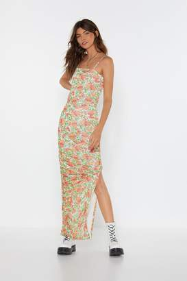 Nasty Gal Womens Be-leaf in Yourself Floral Maxi Dress - red - 8