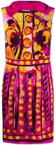 Moschino Brushstroke Print Sleeveless Dress