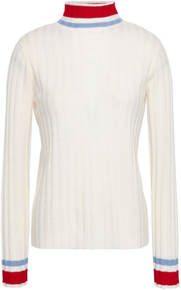 Madeleine Thompson Striped Ribbed Wool And Cashmere-blend Turtleneck Sweater