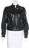 Tory Burch Leather Biker Jacket