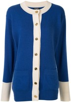 Chanel Pre Owned CC button front opening long sleeve cardigan
