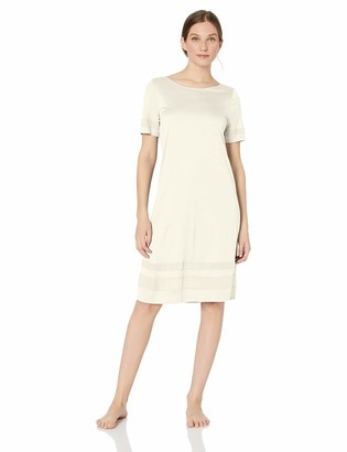 Hanro Women's Enna Short Sleeve Gown