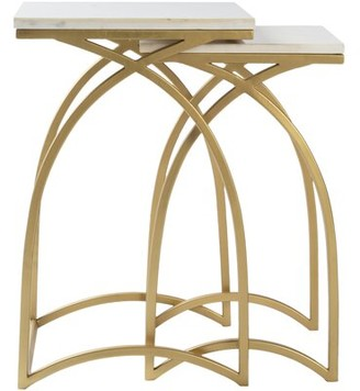 Everly Quinn Rosemond 2 Piece Nesting Tables