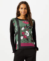 Jigsaw Nordic Floral Border Silk Front