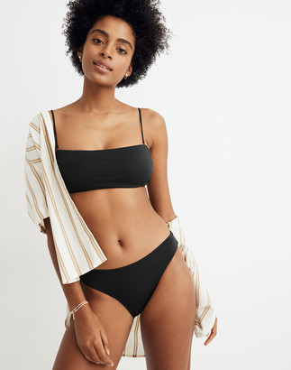 Madewell Second Wave Spaghetti-Strap Bandeau Bikini Top