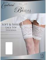 "Couture Womens/Ladies Bridal Soft & Sheer Lace Top Stockings (1 Pair) (Large (5ft6""-5ft10""))"