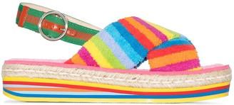 Gucci Striped 50 Flatform Slingback Sandals