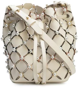 ZAC Zac Posen Pearl-Embellishment Bucket Bag