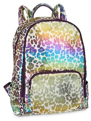 Bari Lynn Leopard-Print Multicolor Backpack
