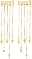 Rebecca Minkoff 12k Gold-Plated Bar Fringe Climber Earrings