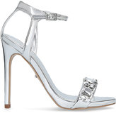 Carvela Gail embellished metallic strappy sandals